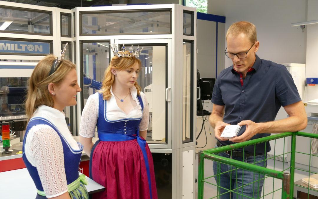 Königlicher Besuch beim Milchprüfring Bayern e.V.