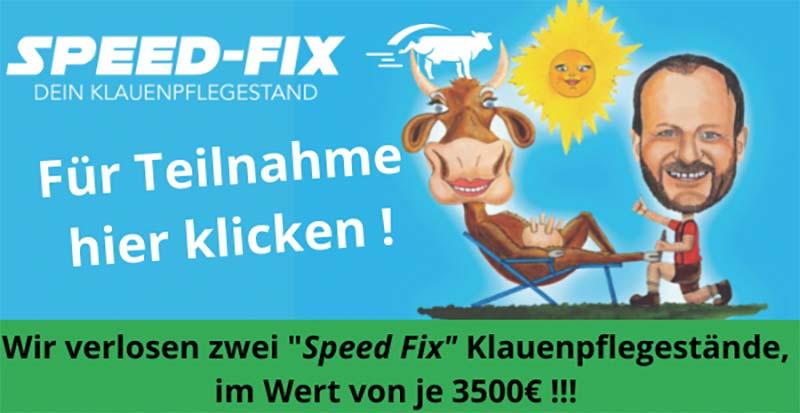 SPEED-FIX: 2 Speed-Fix Klauenpflegestände zu gewinnen
